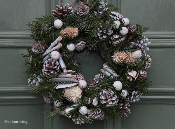 wreaths green on green