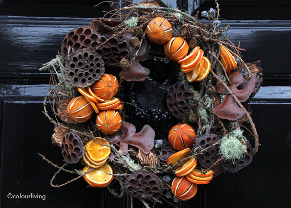 wreaths oranges