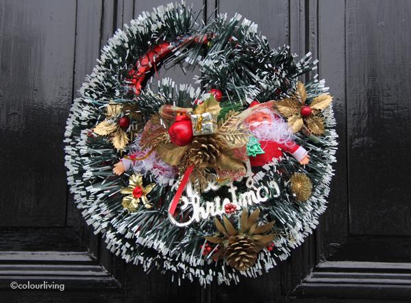 wreaths plastic xmas