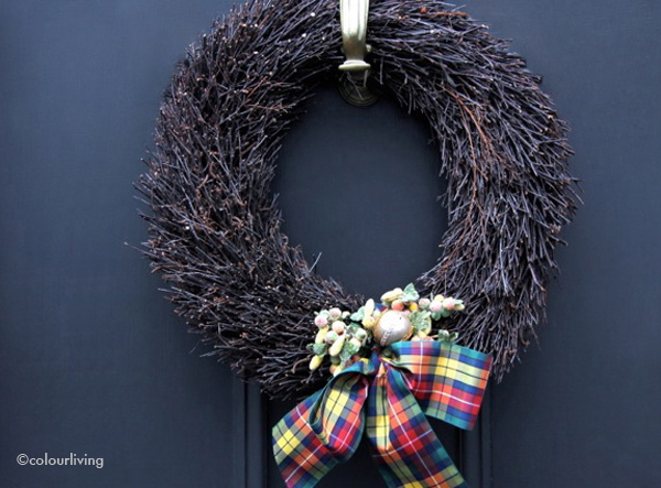 wreaths tartan