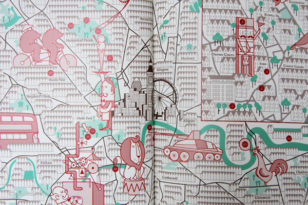 A Map Of The World According To Illustrators And Storytellers.My Library A Map Of The World Ccording To Illustrators And