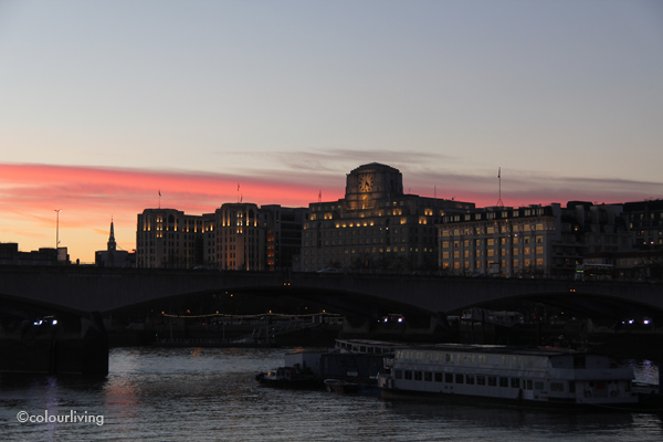 Sunset in London - colourliving