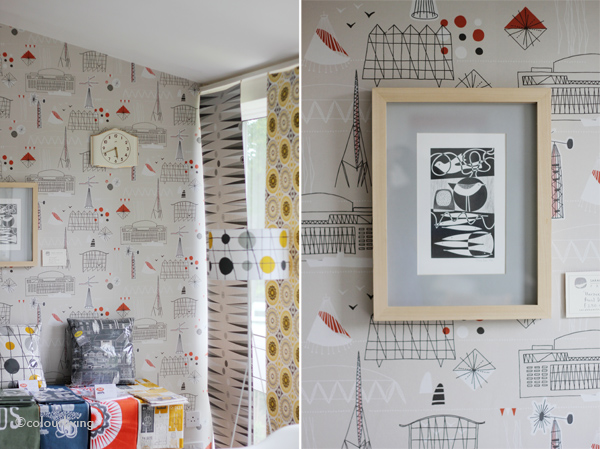 Mini Moderns - Festival Wallpaper - Sarah Hamiltons Prints Open House - colourliving