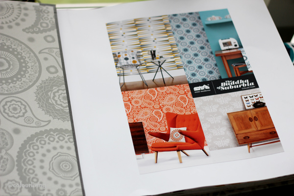 Mini Moderns - swatch book - Sarah Hamiltons Prints Open House - colourliving
