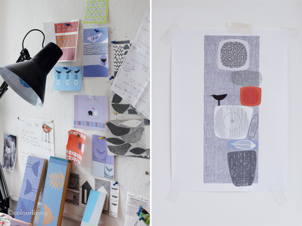 Sarah Hamilton Prints - Sarah's studio - colourliving