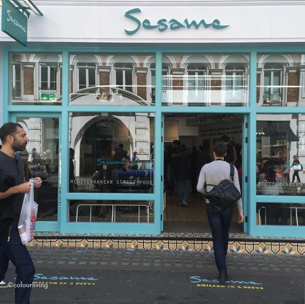 sesame - london's new street food bar - colourliving